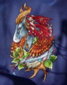 "Cross stitch pattern ""Horse""."