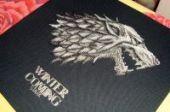 "Cross stitch pattern ""Winter Is Coming""."