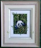 """Cross stitch pattern """"Panda""""."""