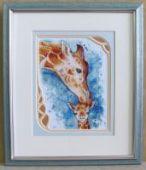 "Cross stitch pattern ""Giraffes""."