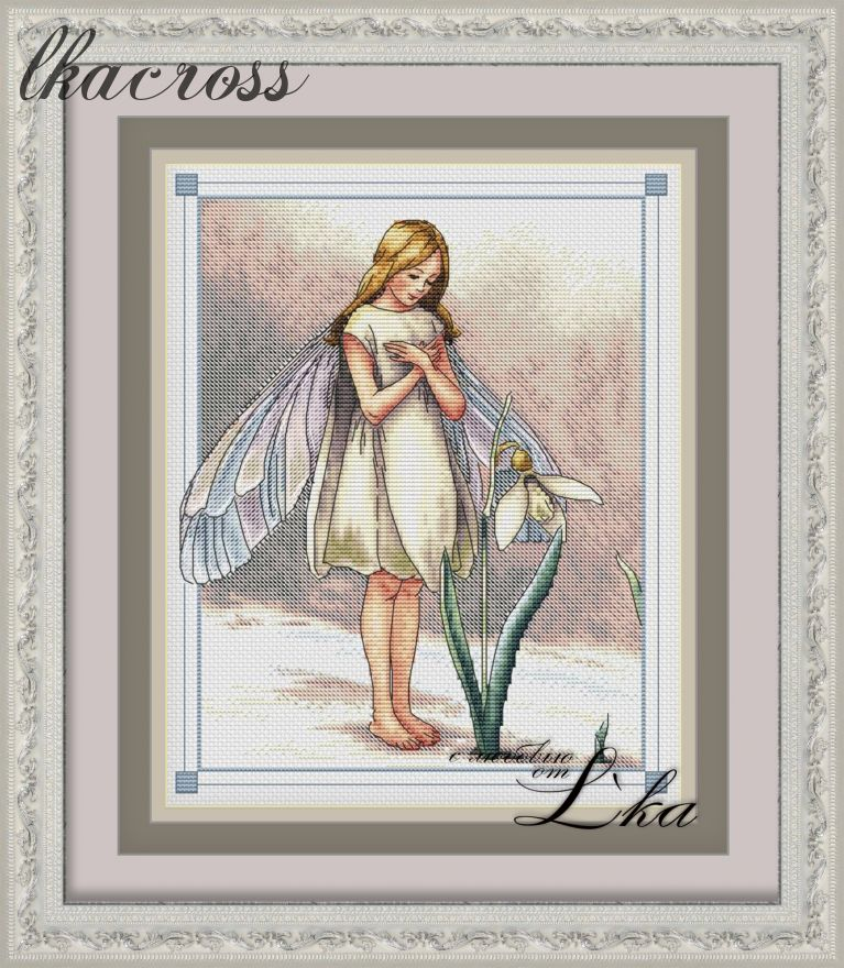 """Fairy spring"". Digital cross stitch pattern."