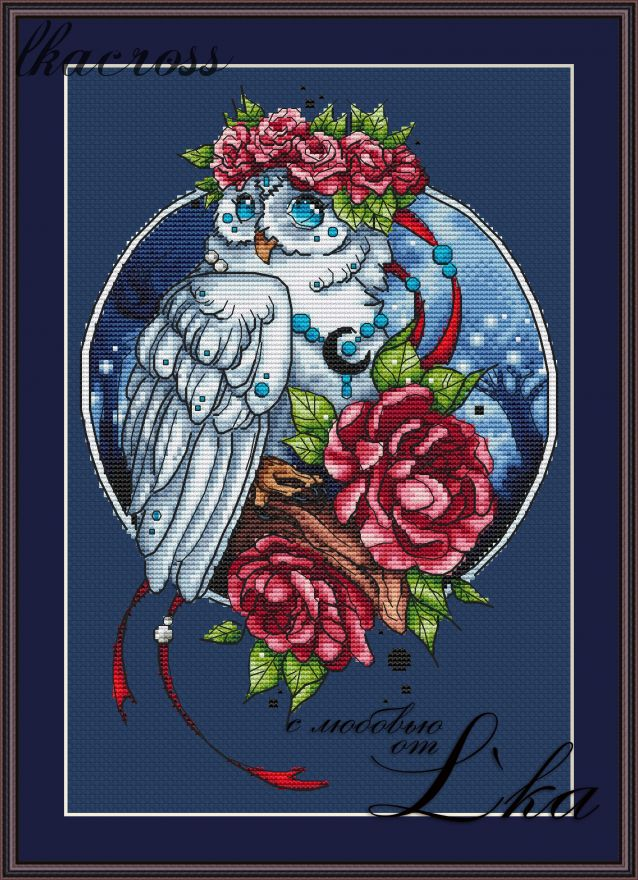 """Owl"". Digital cross stitch pattern."