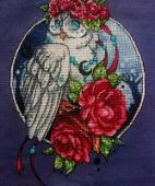 "Cross stitch pattern ""Owl""."