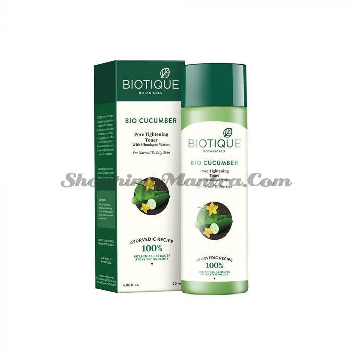 Тоник для лица огуречный Биотик   Biotique Bio Cucumber Pore Tightening Freshener