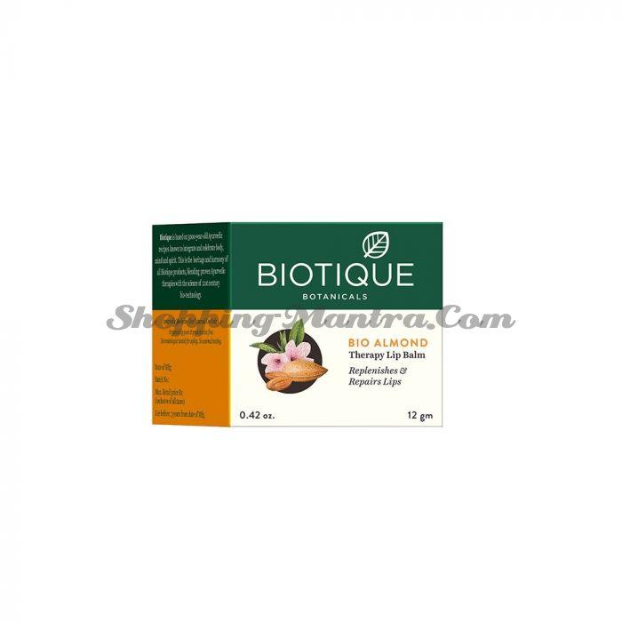 Бальзам для ночного ухода за кожей губ Биотик Миндаль | Biotique Bio Almond Overnight Therapy Lip Balm