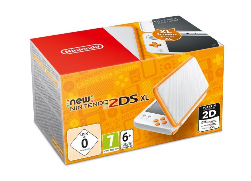 Игровая приставка New Nintendo 2DS XL (White + Orange)