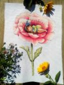"Cross stitch pattern ""Thumbelina""."