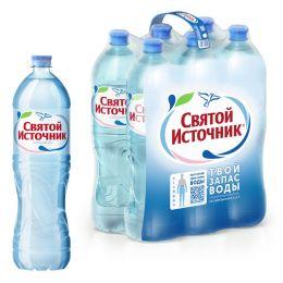 Доставка воды Святой источник, негаз. 1,5 л, пэт (1 уп./6 бут.)
