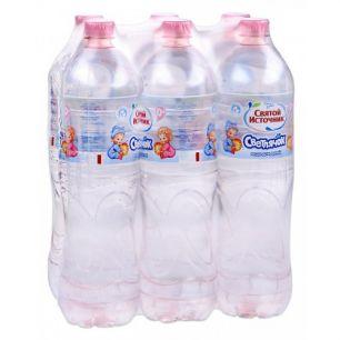 Доставка воды Святой источник, Светлячок негаз. 1,5 л, пэт (1 уп./6 бут.)