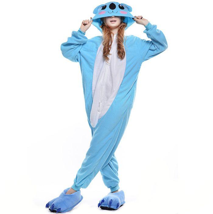 Пижама Кигуруми Коала Голубая (Флис)