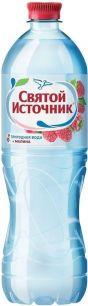 Доставка воды Святой источник, негаз.с соком малины 1 л, пэт (1 уп./12 бут.)