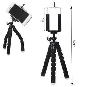 Мини-штатив на шарнирах гибкий + держатель для смартфона NEW
