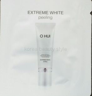 O HUI  EXTREME WHITE peeling  - мощный отбеливающий пилинг-скатка  от бренда O HUI пробник саше 1 мл.