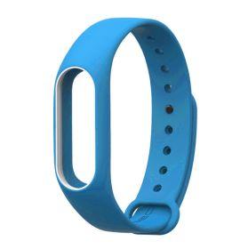 Ремешок для браслета Xiaomi Mi Band 2 голубой с белым