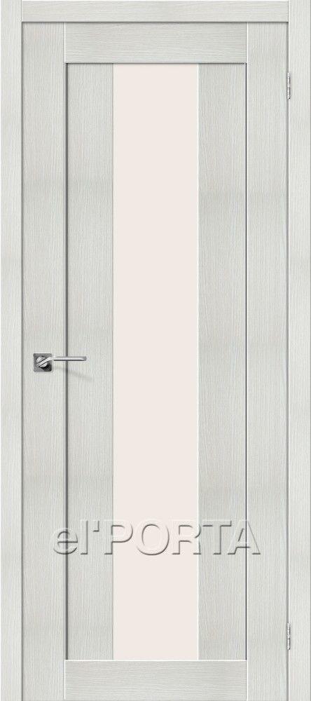 Межкомнатная дверь ПОРТА X-25 ALU BIANCO VERALINGA