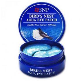 SNP Bird's Nest Aqua Eye Patch - Гидрогелевые патчи для век с экстрактом ласточкиного гнезда