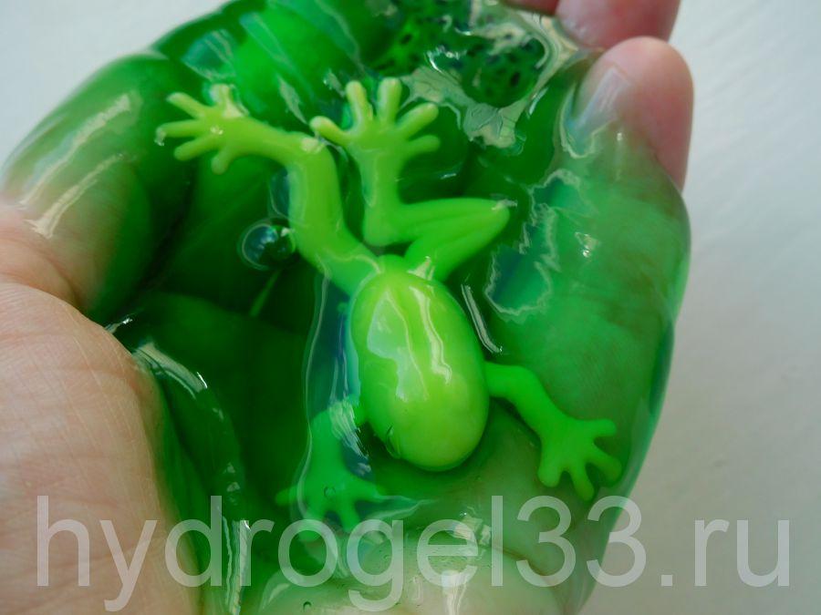 "Слайм ""Банка с лягушкой"", зеленый"