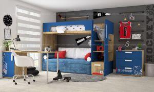"""Кровать-чердак """"Клюква""""+диван"""