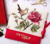 """Cross stitch pattern """"The Nightingale and the rose""""."""