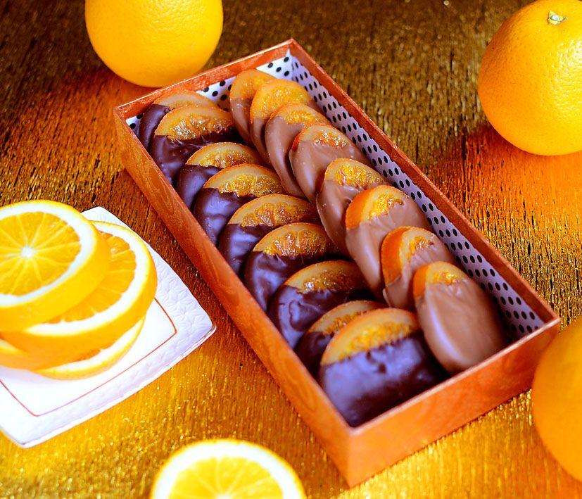 Апельсины в шоколаде 400 грамм
