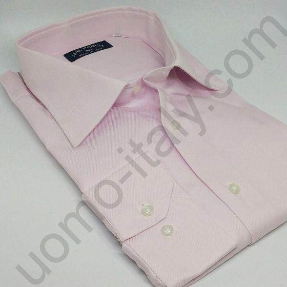 (арт.0003) Рубашка розовая в рубчик (последний размер 48)