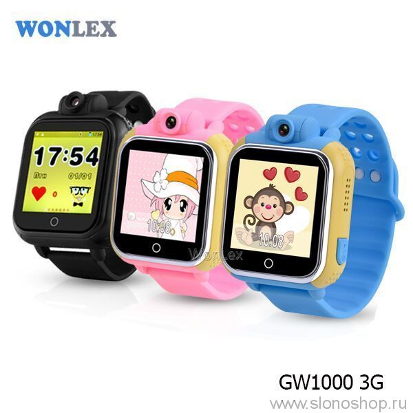 детские умные часы Wonlex GW1000 Smart Baby Watch Q100 с камерой