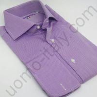 (арт.0029) Рубашка сиреневая под запонку (последний размер 42)