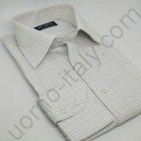 """(арт.0011) Рубашка в тонкую клетку """"в елочку"""""""