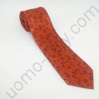 галстук красный в мелкий цветок