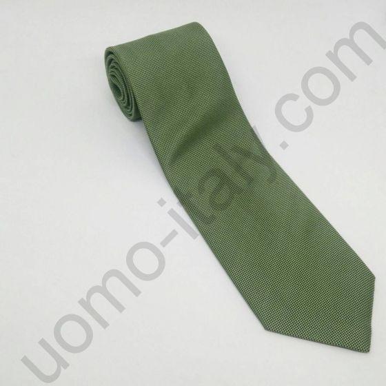 галстук зеленый с выработкой