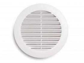 Вентрешётка 100мм (цвет белый) (кольцо в комплекте)