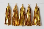 Гирлянда Тассел, золото, фольга, 3м, 10 листов