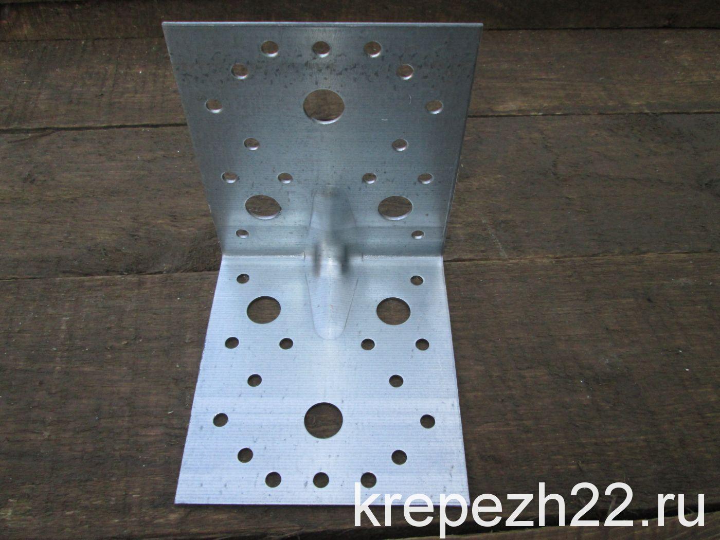 Крепежный уголок усиленный 105*105*90*2 мм