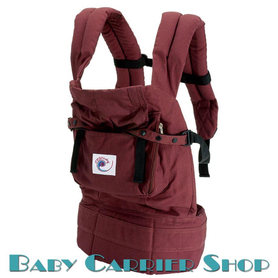 Слинг-рюкзак ERGO BABY CARRIER Эргорюкзак для переноски малышей «Cranberry Original» [Эрго Беби BC4S слингорюкзак Бордо/Бордо]
