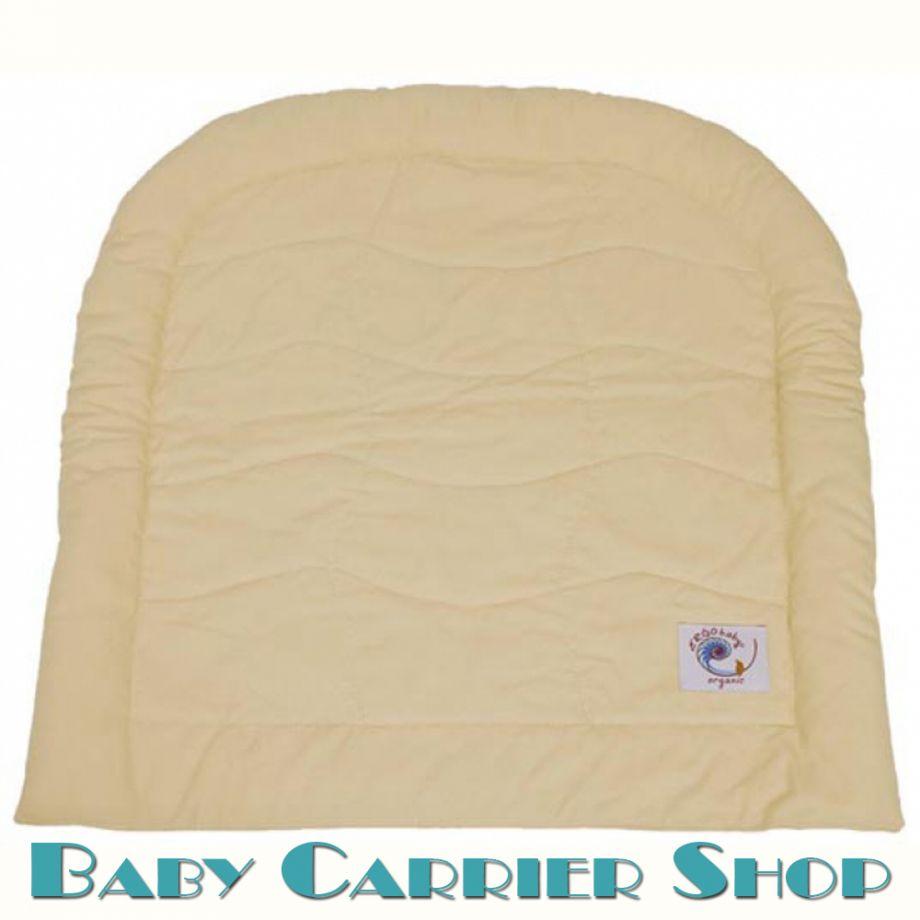 Поддерживающая вставка для новорожденного в слинг-рюкзак ERGO BABY «INFANT INSERT ORGANIC Caramel» [Эрго Беби II61OC кремовый]