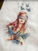 "Cross stitch pattern ""All within your hands""."
