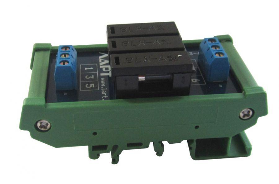 Выносной блок предохранителей на DIN рейку LF3-6