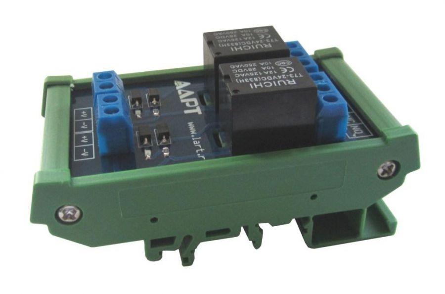 Выносной блок реле на DIN рейку LRB-2-24V-10-A