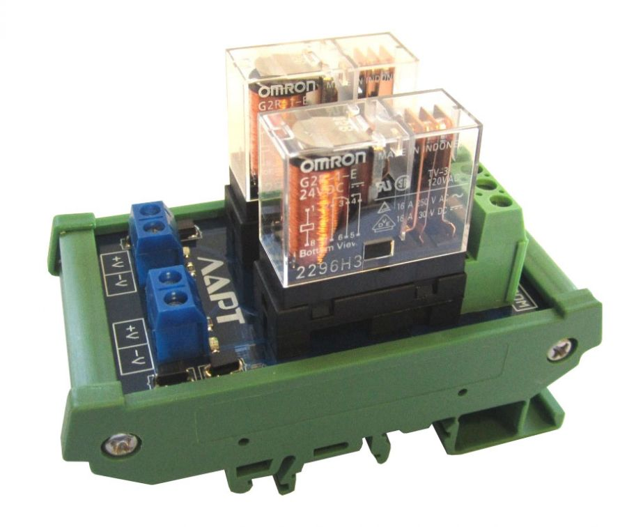 Выносной блок реле на DIN рейку LRL-2-24V-16-A