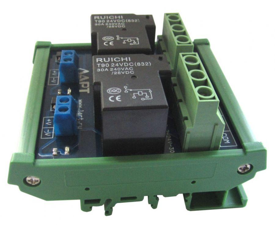 Выносной блок реле на DIN рейку LRL-2-5V-30-A