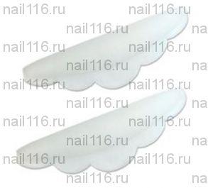 """Бигуди силиконовые - размер """"S белый"""" (большой) - 1 пара"""