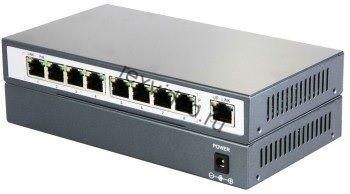 POE-31008P коммутатор PoE 8+1 портов