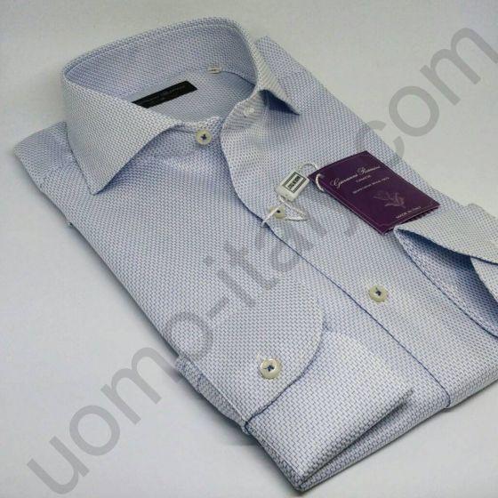 Мужская рубашка Giovanni Rosmini серо-голубая (453C)