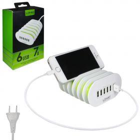 Зарядное устройство на 6 USB портов (7А)