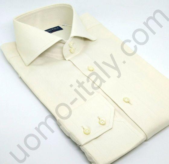 Рубашка мужская цвета айвори (арт.Ferenze 221-5)