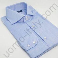 """Рубашка мужская голубая """"оксфорд"""" (последний размер 42)(арт.507R)"""