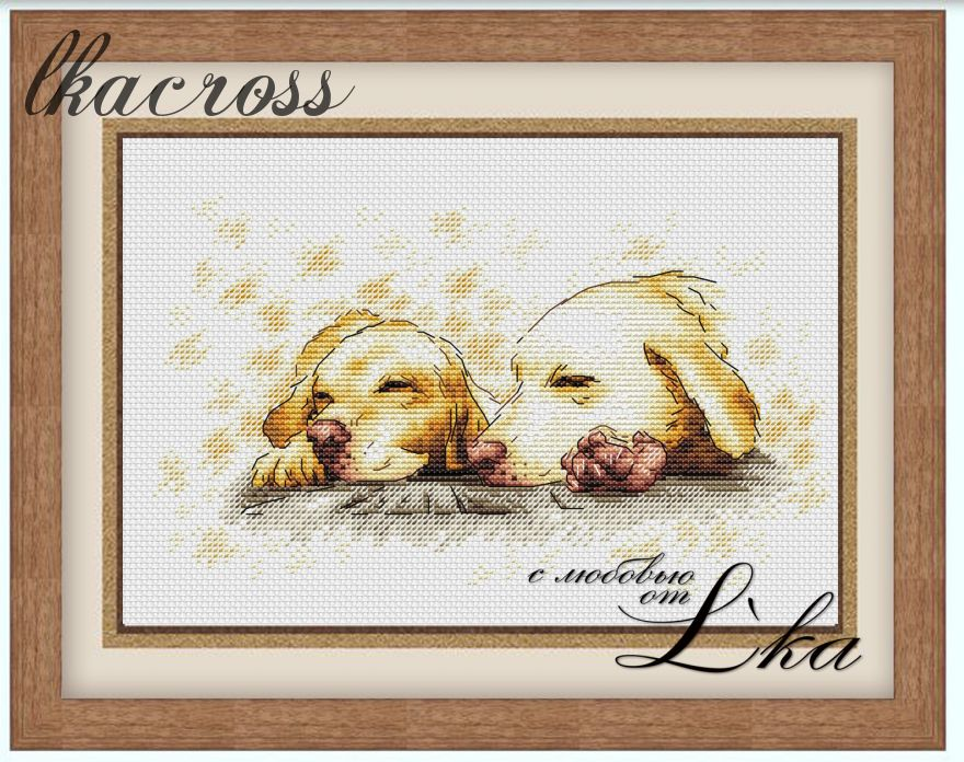 """Golden dreams"". Digital cross stitch pattern."
