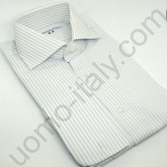 (арт.0031) Рубашка белая в полоску под запонку