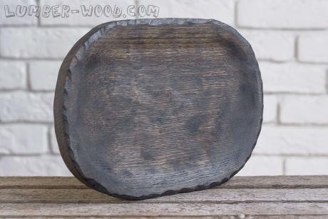 Деревянная тарелка для подачи Патина!   арт. 628