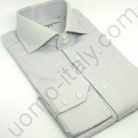 """(арт.221-6) Рубашка мужская серая """"в елочку"""" (последний размер 46)"""